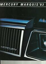 LINCOLN-MERCURY MARQUIS USA CAR OVERSIZED SALES BROCHURE 1983