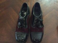 Vintage Rand Deep Red and Black Oxfords Size 9.5D Mens Goth