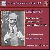 Symphonies Nos. 1 & 4, Leonore Overture (Toscanini, Bbc So) CD NEW