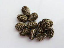 30 x Alloy Leaf Spacer Beads 8mm x 6mm Antique Bronze LF NF Charms   (MBX0074)