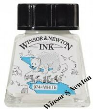 Winsor and Newton 14ml Drawing Ink Bottle White Fast drying Excellent adhesion