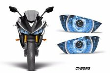 AMR Racing Head Light Eyes Yamaha R3 2015 Street Bike Headlight Parts CYBORG BLU