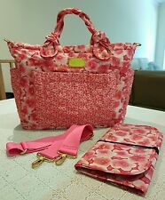 Marc by Marc Jacobs Peach Red Color w Floral Pattern Tote / Carrying Bag
