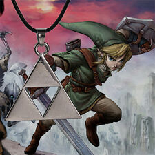 The Legend of Zelda necklace Triforce silver color pendant cosplay jewelry