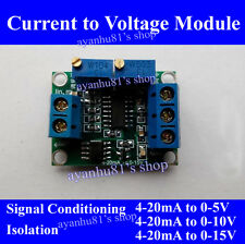 Current to Voltage Signal Transmitter 4-20mA to 0-3.3V/5V/0-10V/0-15V Converter