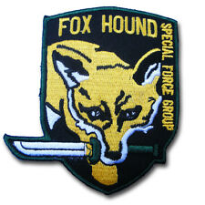 Fox Hound Special Forces Patch Iron On or Sewing Metal Gear Army Embroidered