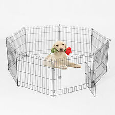 "PawHut 30"" Pet Cage Playpen Dog Puppy Pig Frame Small Metal Training Carrier NEW"