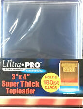 (10) Ultra Pro Thick 180pt Toploaders Super thick Topload Card Holders 3x4 MLB