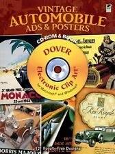 Vintage Automobile Ads and Posters CD-ROM and Book Dover Electronic Clip Art