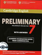 Cambridge PRELIMINARY ENGLISH TEST PET 7 Book with Answers & 2 Audio CDs @NEW@