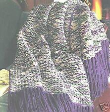 Double Delight afganos Crochet Patrón 6 Diseños Leisure Arts