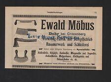 DOHR-CRONENBERG, Anzeige 1909, Ewald Möbus Werkzeug-Fabrik