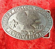 BOY SCOUTS SNUFFY HOLLOW CAMPOREE 1993 30TH ANNIVERSARY BELT BUCKLE 3 1/2""