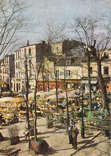 PARIS MONTMARTRE 15 la place du tertre écrite 1957