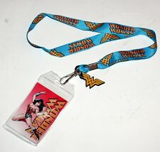 WONDER WOMAN DC Comics Justice League Superhero ID HOLDER LANYARD and LOGO CHARM