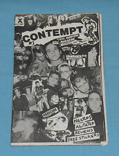 vintage original CONTEMPT #1 punk hardcore fanzine magazine THE MISFITS Necros