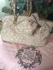 Juicy Couture Dust Pink Velour Bag with Bow