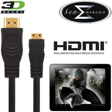 Sumvision Cyclone Voyager, Titan, Astro Tablet PC HDMI Mini to HDMI TV 3m Cable