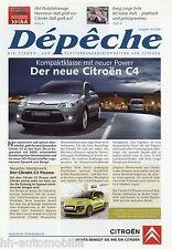 Prospectus Citroën dépêche 3 08 clients professionnels flottes clients CITROEN 2cv c5 c4 wrc