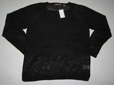 BULK 10 Womens 525 AMERICA Scoop Neck Knit Black Sweater Long Sleeve Size L