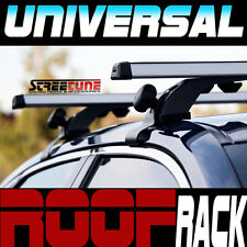 "Silver 50"" Adjustable Window Frame Roof Rack Rail Cross Bars Luggage Carrier S4"