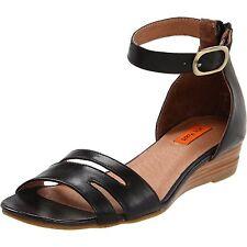Miz Mooz Women's Panthea Ankle-Strap Sandal, Black SIZE 7