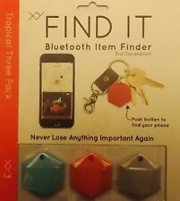 XY FIND IT BLUETOOTH ITEM FINDER 3RD GEN. TRACKER 5 TIMES LOUDER!   3 PAK
