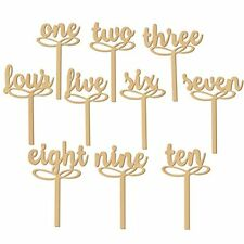 Pixnor 1-10 Wooden Table Numbers on Sticks for Wedding Party Decoration Pack ...
