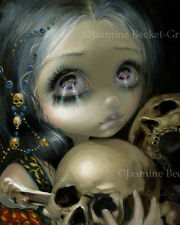 Jasmine Becket-Griffith art print skulls bones SIGNED Ossuary: The Collector