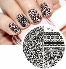 Nail Art Stamping Plate Chic Lace Pattern Stamp Template Image BORN PRETTY 02