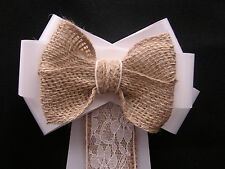 Pew Bows Wedding Church Venue Decor Shabby Chic Rustic Vintage Personalised Best