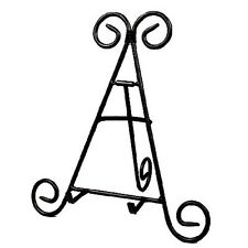 """9"""" Tall Black Iron Display Stand Holds Cook Books, Plates, Pictures, Home Decor"""