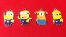 """4 Different """"Despicable Me MINION"""" Enamel Charms - """"Make Your Own Jewellery"""""""