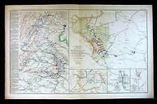 Civil War Map Dinwiddie Church Battle - Richmond Washington Montgomery Columbus