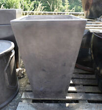 80cm Fibreclay Faux Lead Tall Square Garden Planter CLEARANCE Tapered Plant Pot