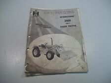 ! INTERNATIONAL HARVESTER 3400 SERIES A LOADER TRACTOR OPERATOR MANUAL