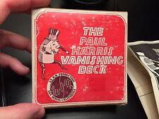 Vintage Original The Paul Harris Vanishing Deck