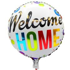 "Welcome Home foil balloon round 18"" 45cm"