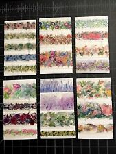 Floral WASHI TAPE SAMPLE set-  Mixed 52 Designs