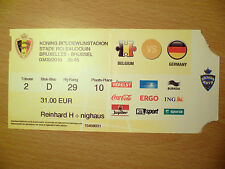 TICKET- BELGIUM v GERMANY, 3 SEPTEMBER 2010