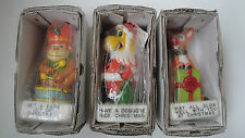 Three Vintage Candles Christmas Theme Greeting Card in Boxes