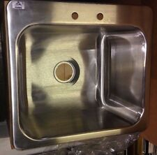 "Stainless Steel (1) One Compartment Drop In Sink 20"" x 16"" x 12"" with Faucet"
