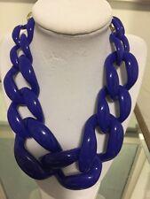 NWOT Cobalt Blue Link Statement Necklace Anthropologie