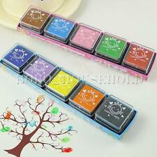 5 Colors Washable Rubber Stamp Ink Pad Paper Wood Fabric Scrapbooking Cardmaking
