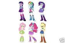 "My Little Pony Equestria Girls Set of 6 Removable Wall Stickers Decal 10"" Inches"