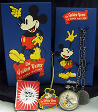 INGERSOLL Mickey Mouse Windup CHARACTER POCKET WATCH Disney Golden Year MIB RARE