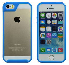 Blue Patent built-in screen protector + bumper phone case for iphone 5s/5//5G