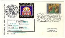 ÖSTERREICH - 16. WEIHNACHTSBALLONPOST 1976 ab CHRISTKINDL schwarzer BORDSTEMPEL