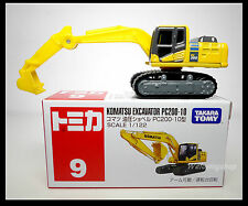 TOMICA #9 KOMATSU EXCAVATOR PC200-10 1/122 TOMY DIECAST 2012 October NEW MODEL
