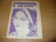 CINEMA CINE-ROMANZO N.278 1932 IL DILUVIO L.MERCADET ELEANOR BOARDMAN MONTE BLUE